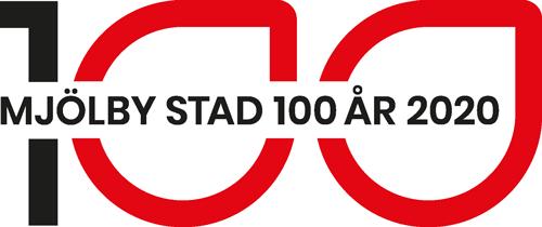 Logotyp Mjölby Stad 100 år